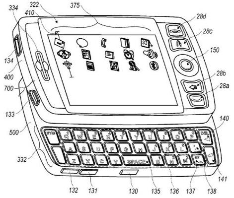 "RIM patents BlackBerry ""Hybrid"" slider with trackball"