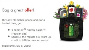 pcoffer - free bags?