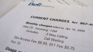 bell mobility bill