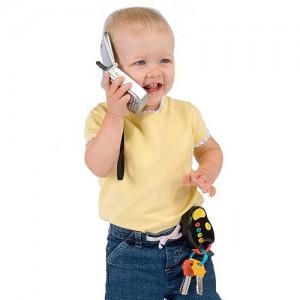 child on cellphone