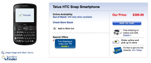 telus-htc-snap-best-buy