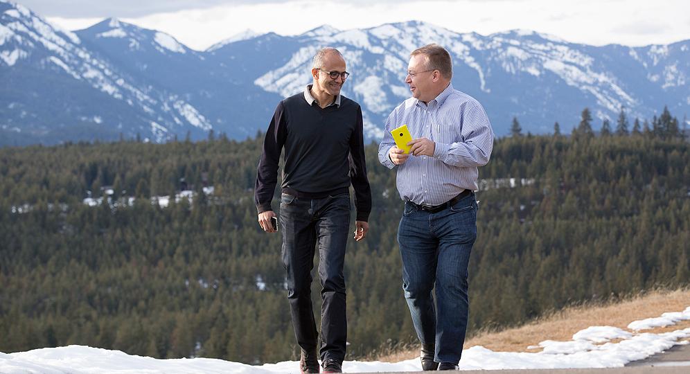 Stephen Elop Satya Nadella Microsoft