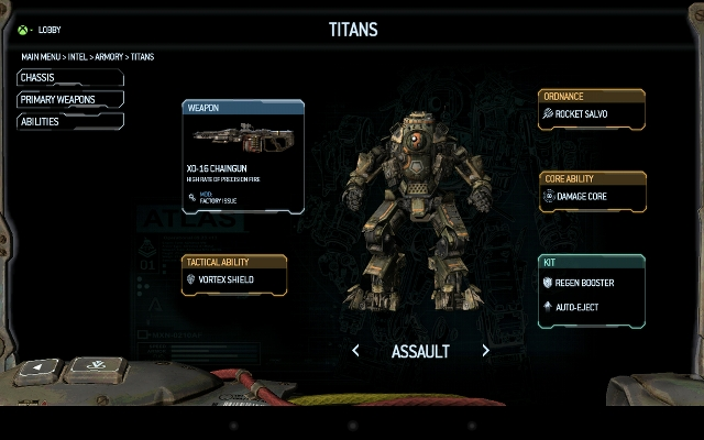 Titanfall companion app for Android