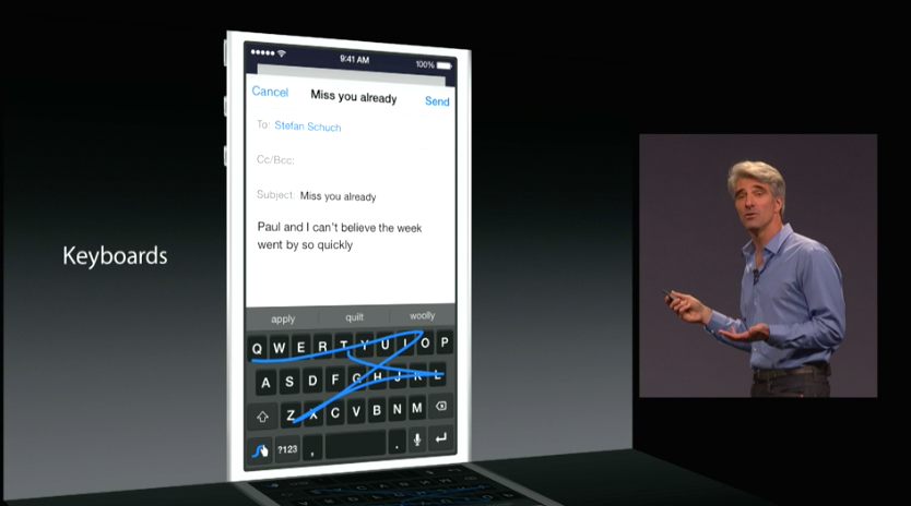 WWDC iOS 3rd party keyboard extensions