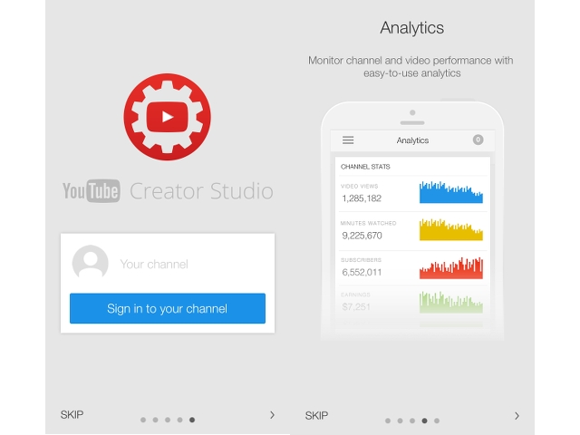 YouTube Creator Studio iOS app