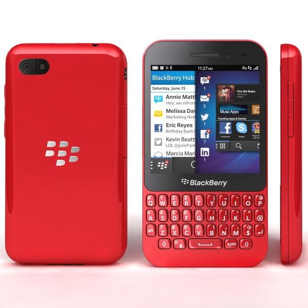 Red BlackBerry Q5