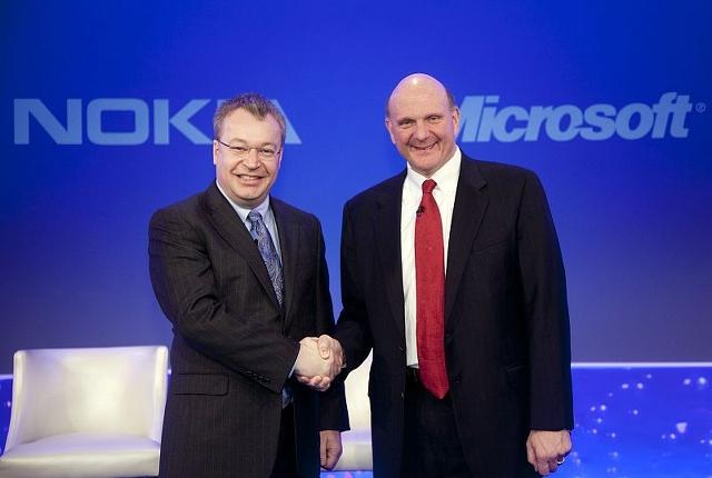 Stephen Elop Steve Ballmer Microsoft Nokia
