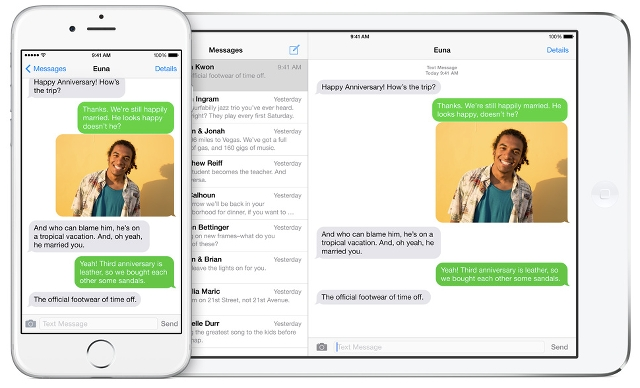 Continuity messaging for iOS 8