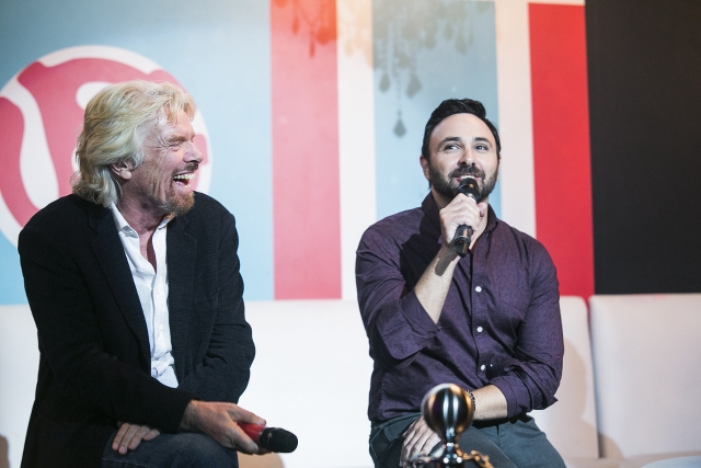 Richard Branson and Joseph Ottorino