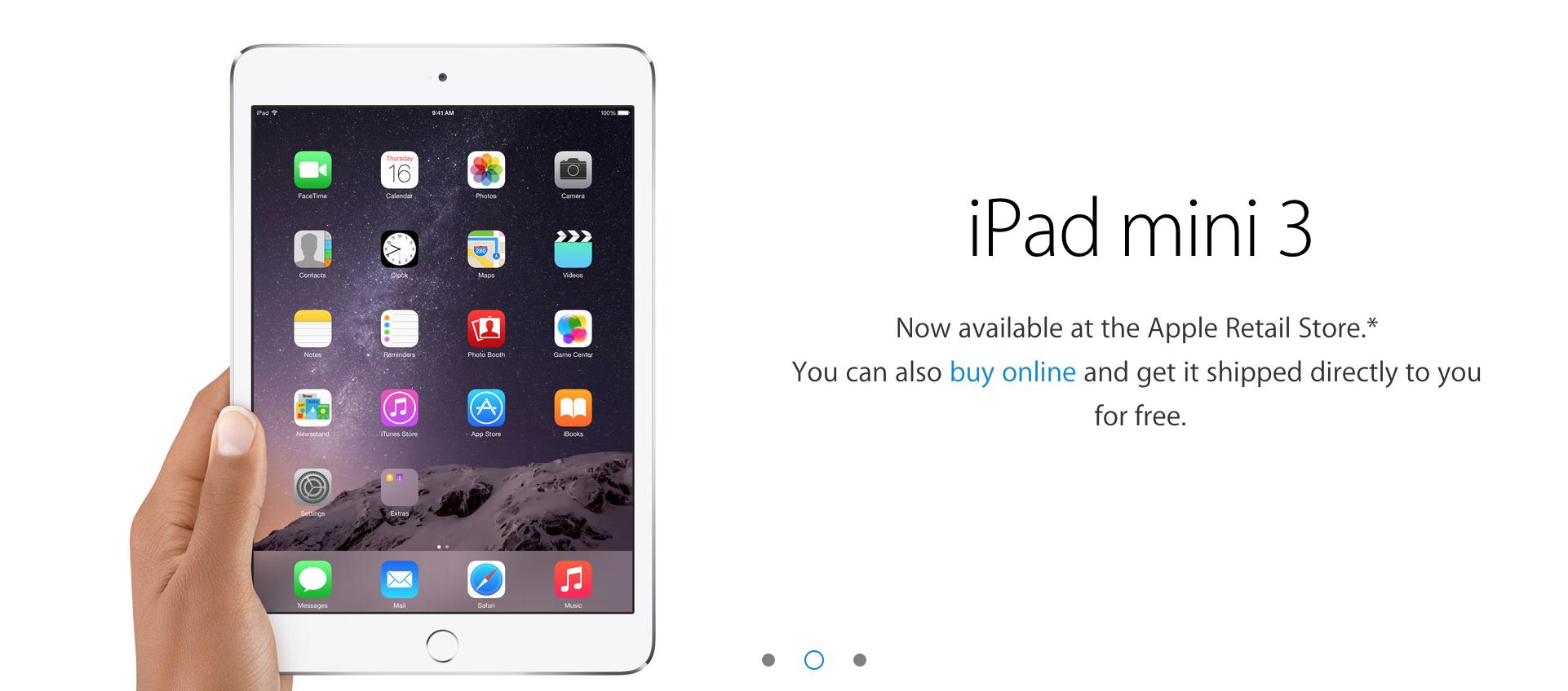 iPad mini 3 Apple retail store