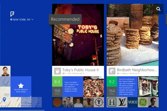 Foursquare Microsoft tablet