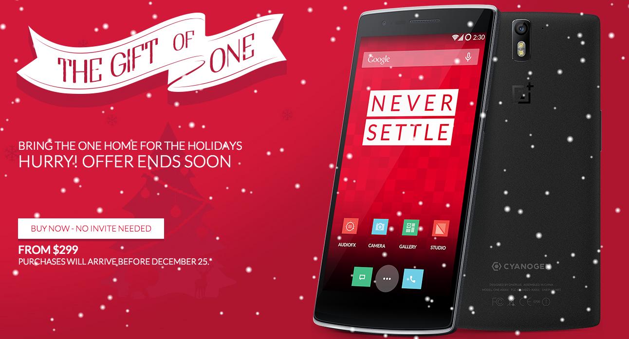 oneplus one christmas