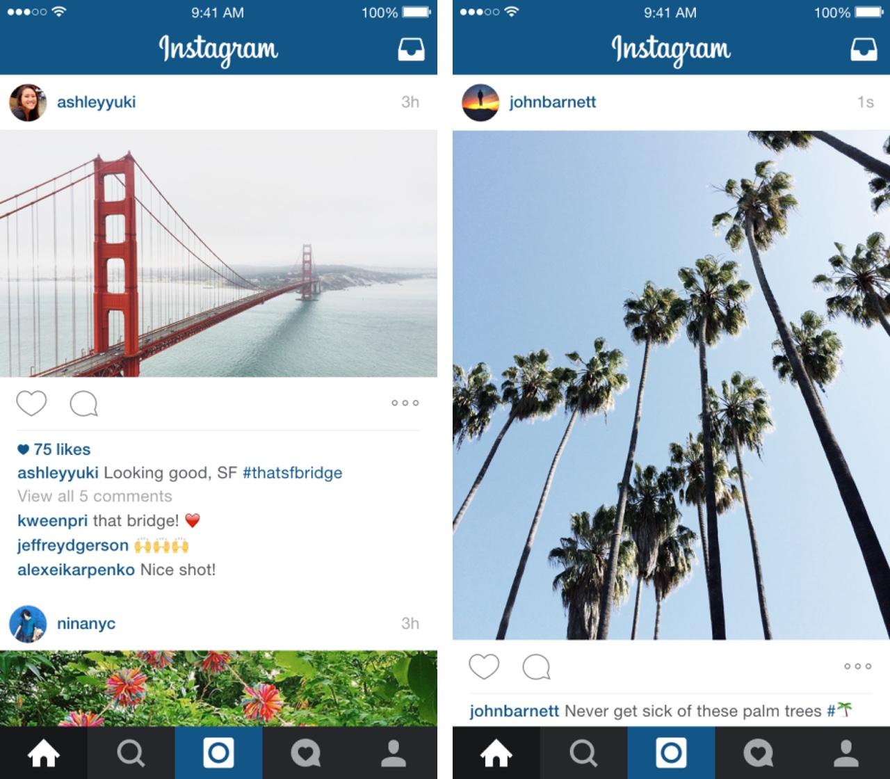 Instagram Portrait and Landscape