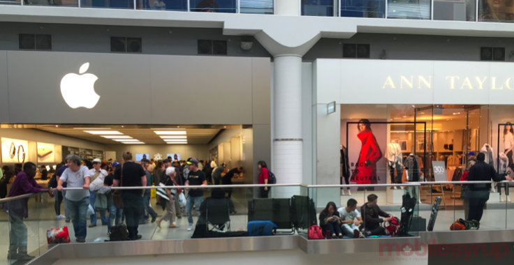 This image was at the Toronto Eaton Centre at 3:00pm EST.