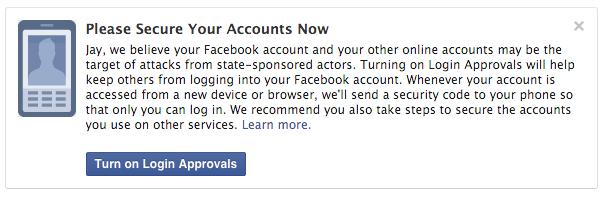 Facebook Banner Notification