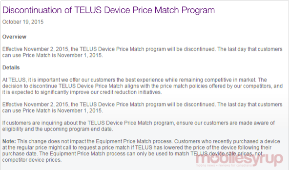 telus device match program discontinue mobilesyrup