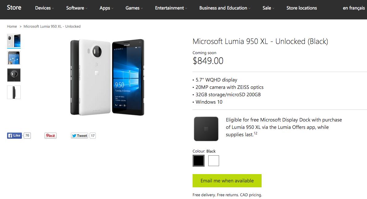 Lumia 950 delay
