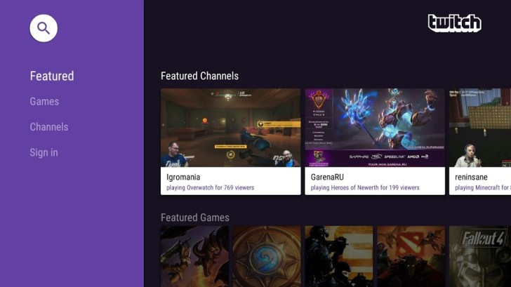 Android TV Twitch