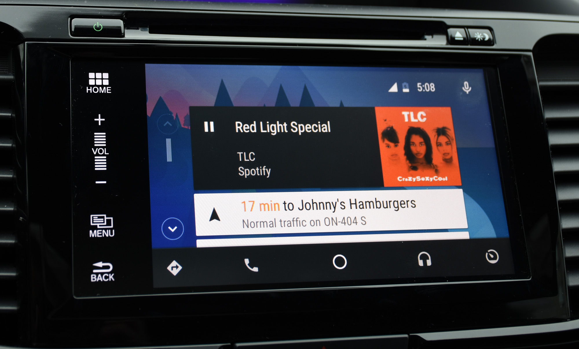 Android Auto home screen music_1