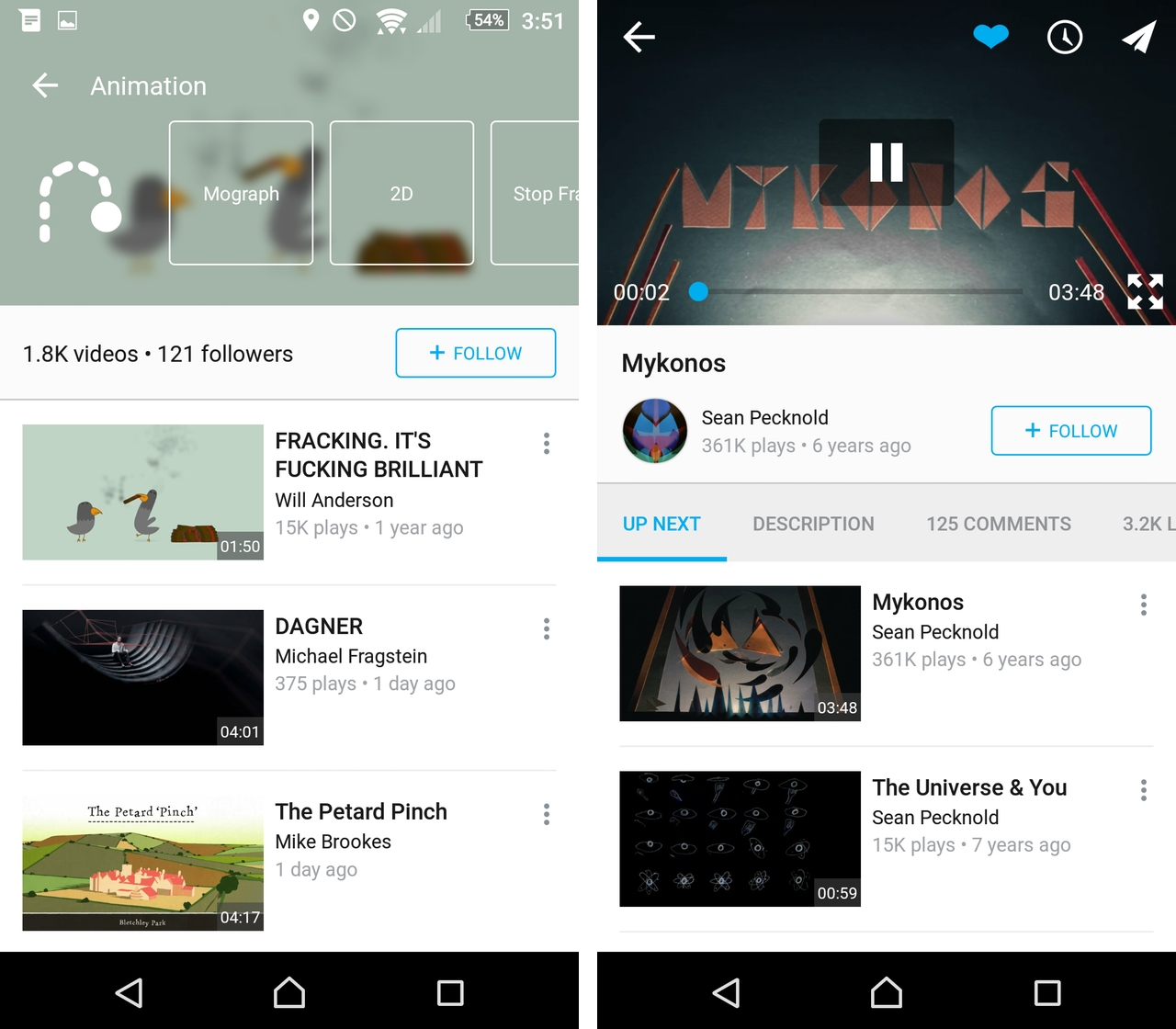 Vimeo Android Redesign