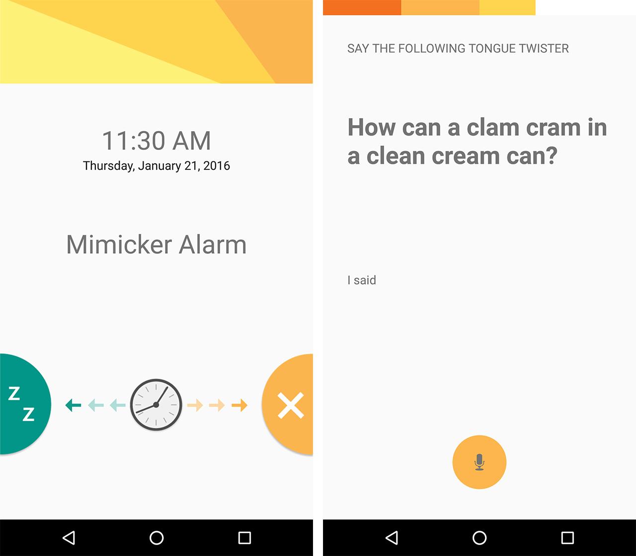 Mimicker Alarm