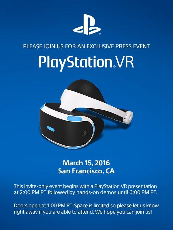 Sony GDC Invite