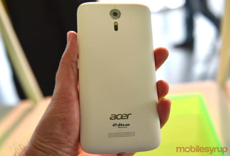 Acer Liquid Zest Plus back
