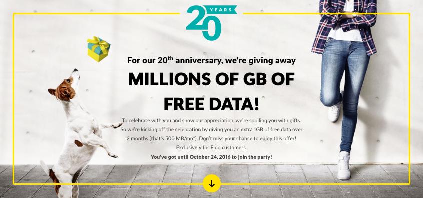 fido birthday offer