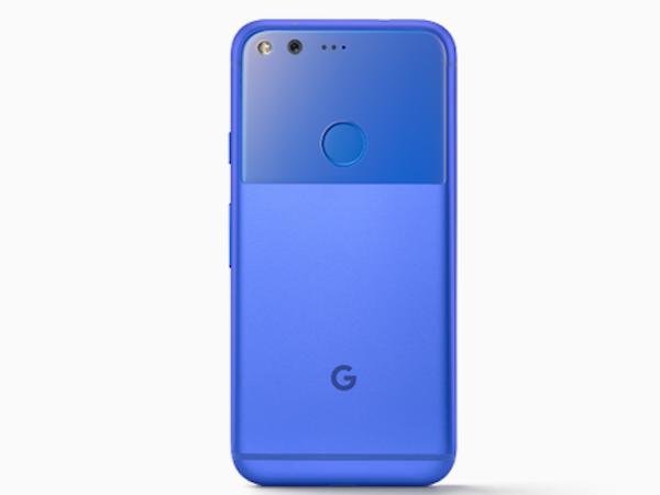 Google Pixel in Really Blue