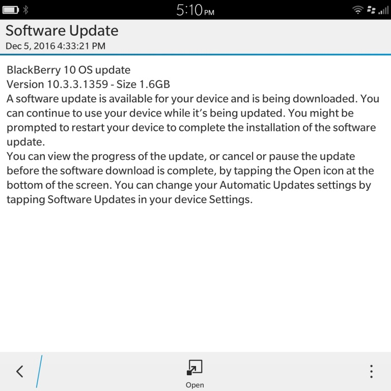 blackberry update