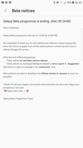 Galaxy S7 Beta
