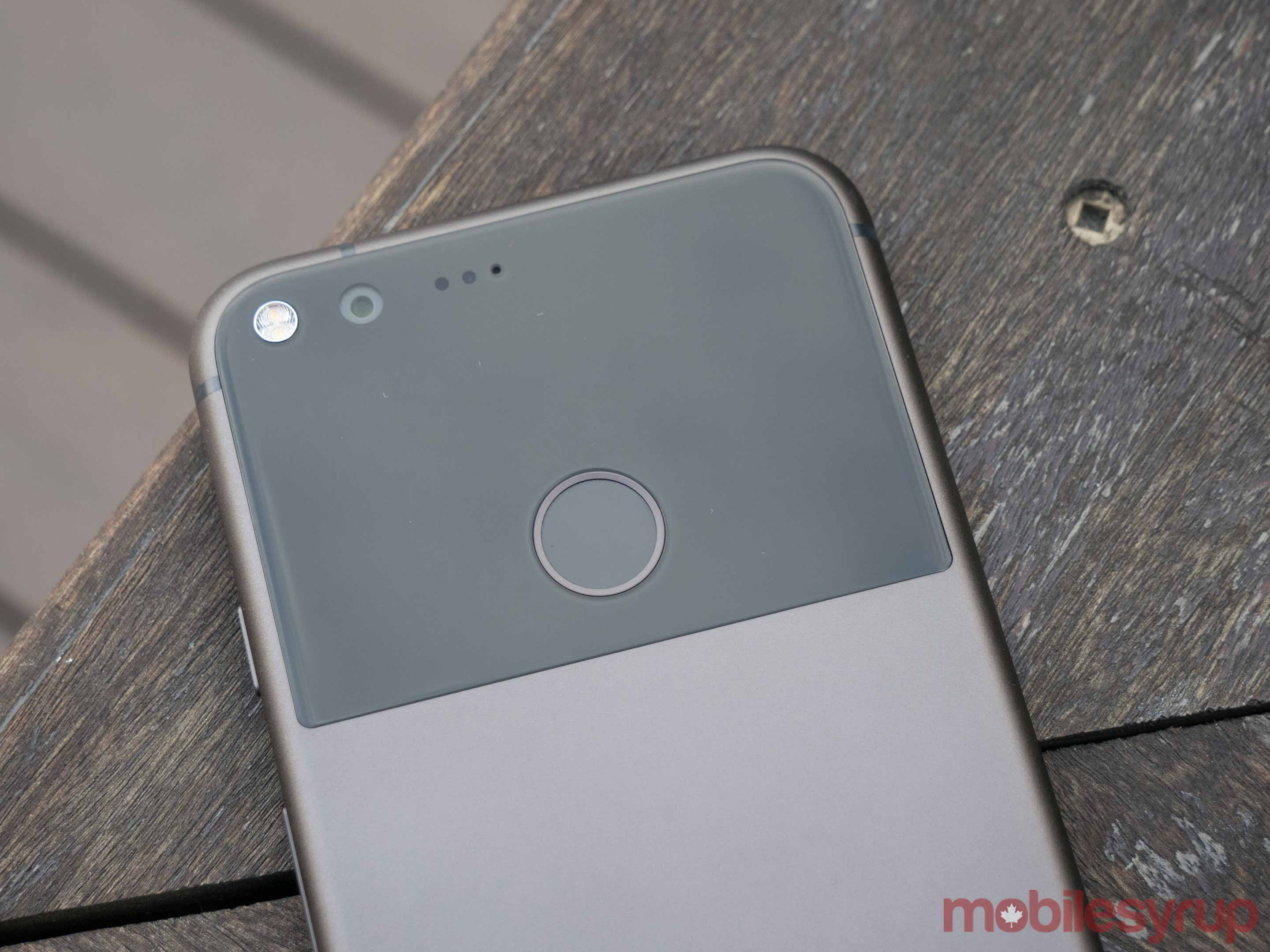 The back of the Google Pixel