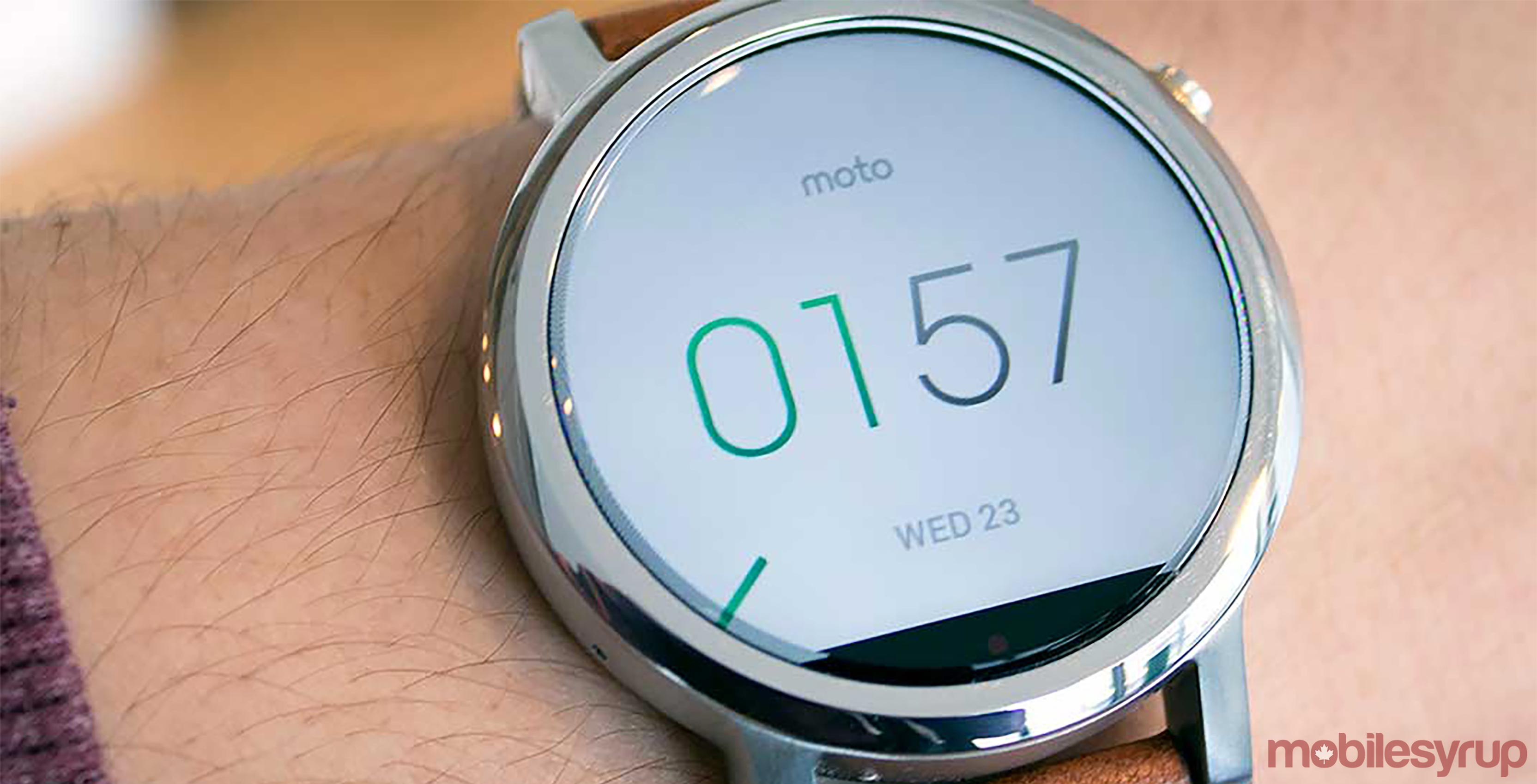 Moto 360 second generation smartwatch
