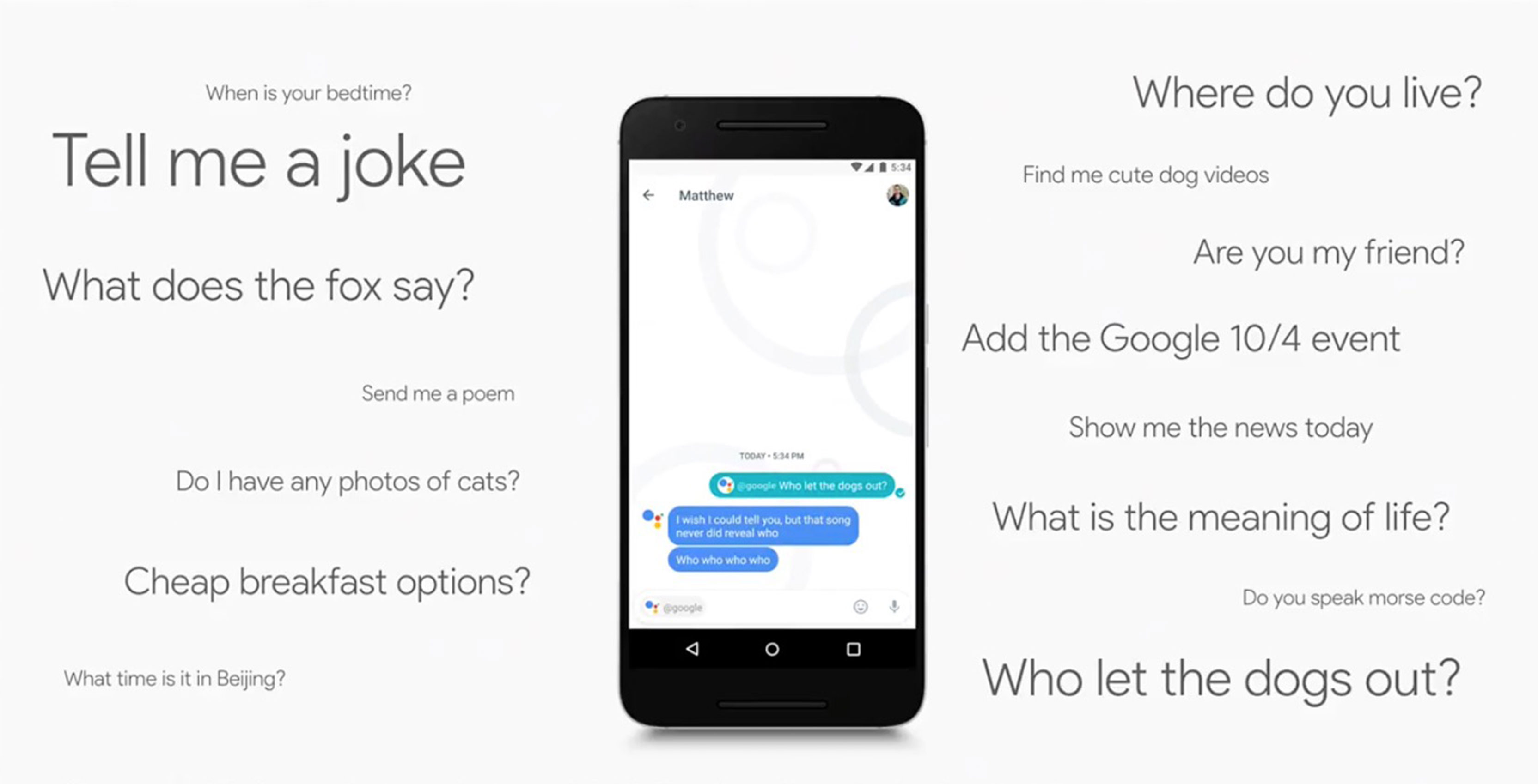 google allo assistant questions