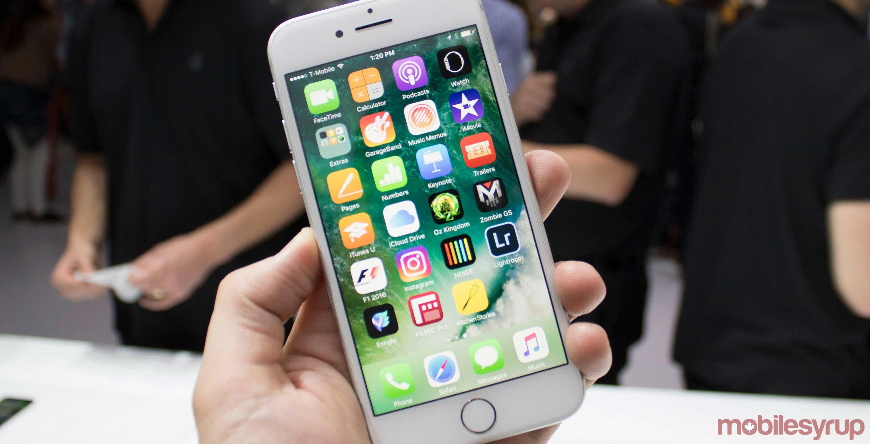 White Apple iPhone 7 Plus smartphone - next could feature wireless charging