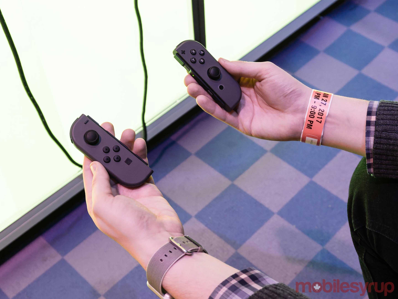 Holding Nintendo Switch Joy-Cons