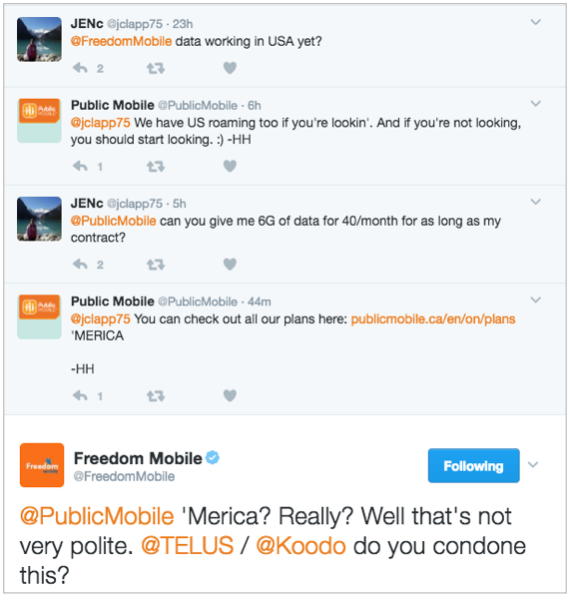 Public takes to Twitter to cause drama for Freedom Mobile