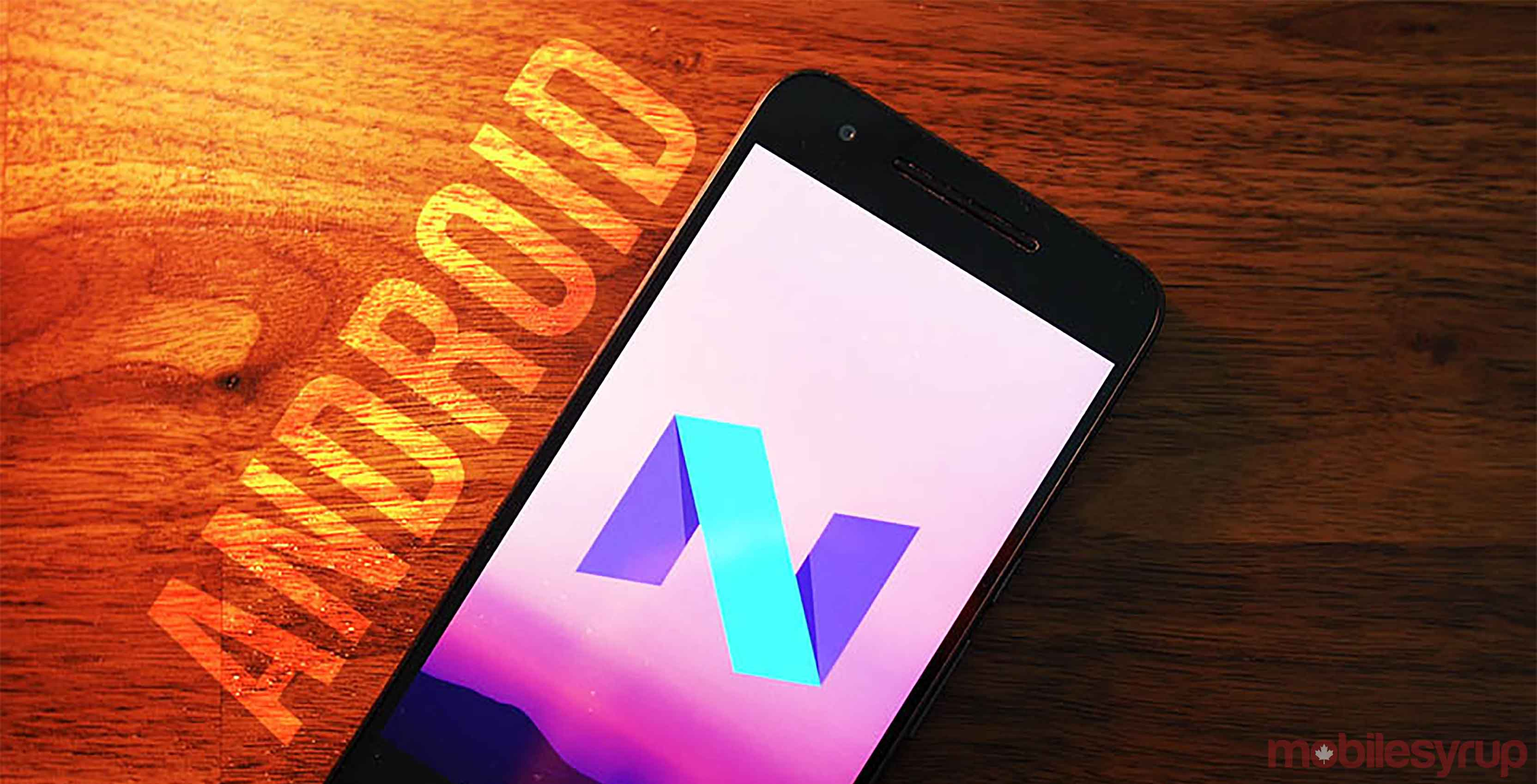 smartphone running Android 7.1.2 Nougat