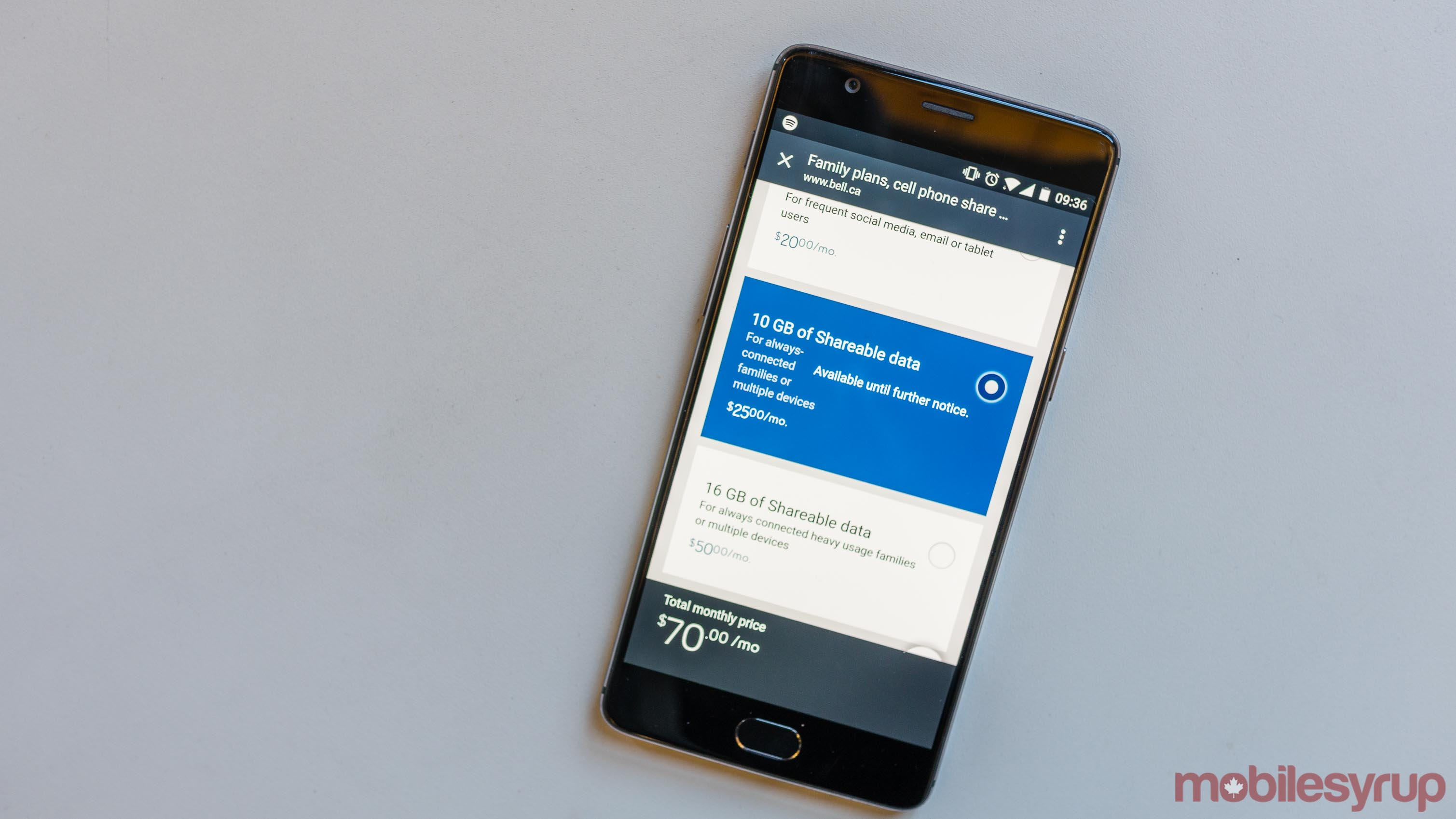 Bell Share Plan Bell offers 10GB of data for $25