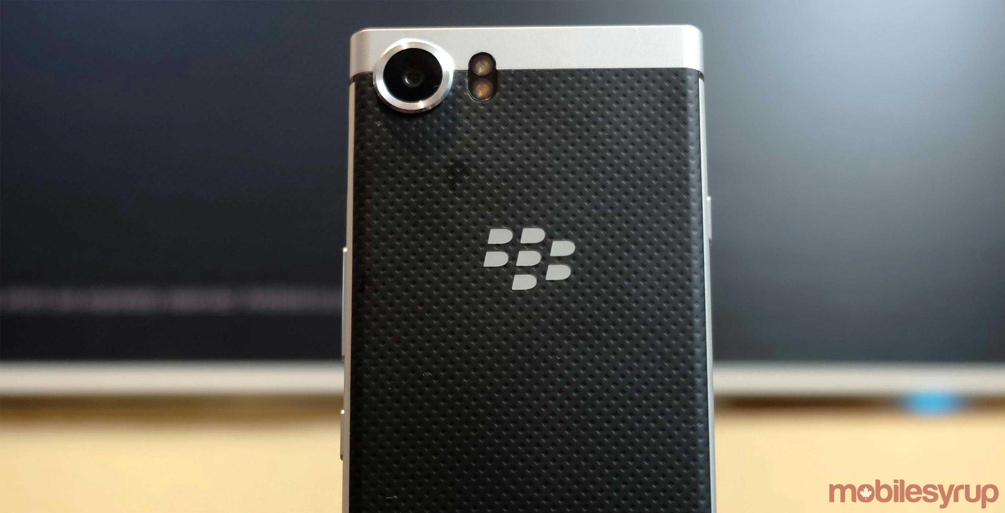 Back of BlackBerry Mercury