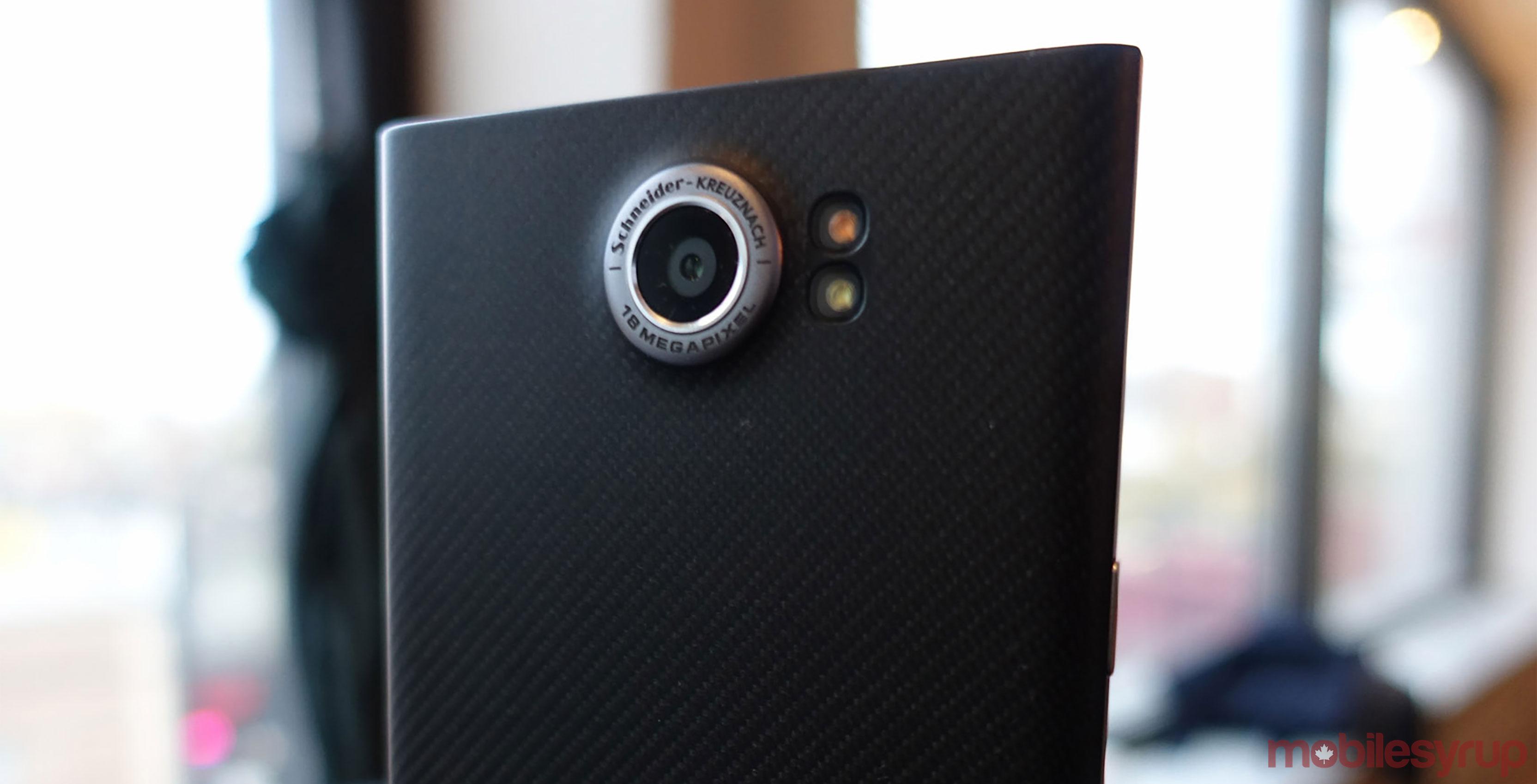 BlackBerry privé smartphone back camera