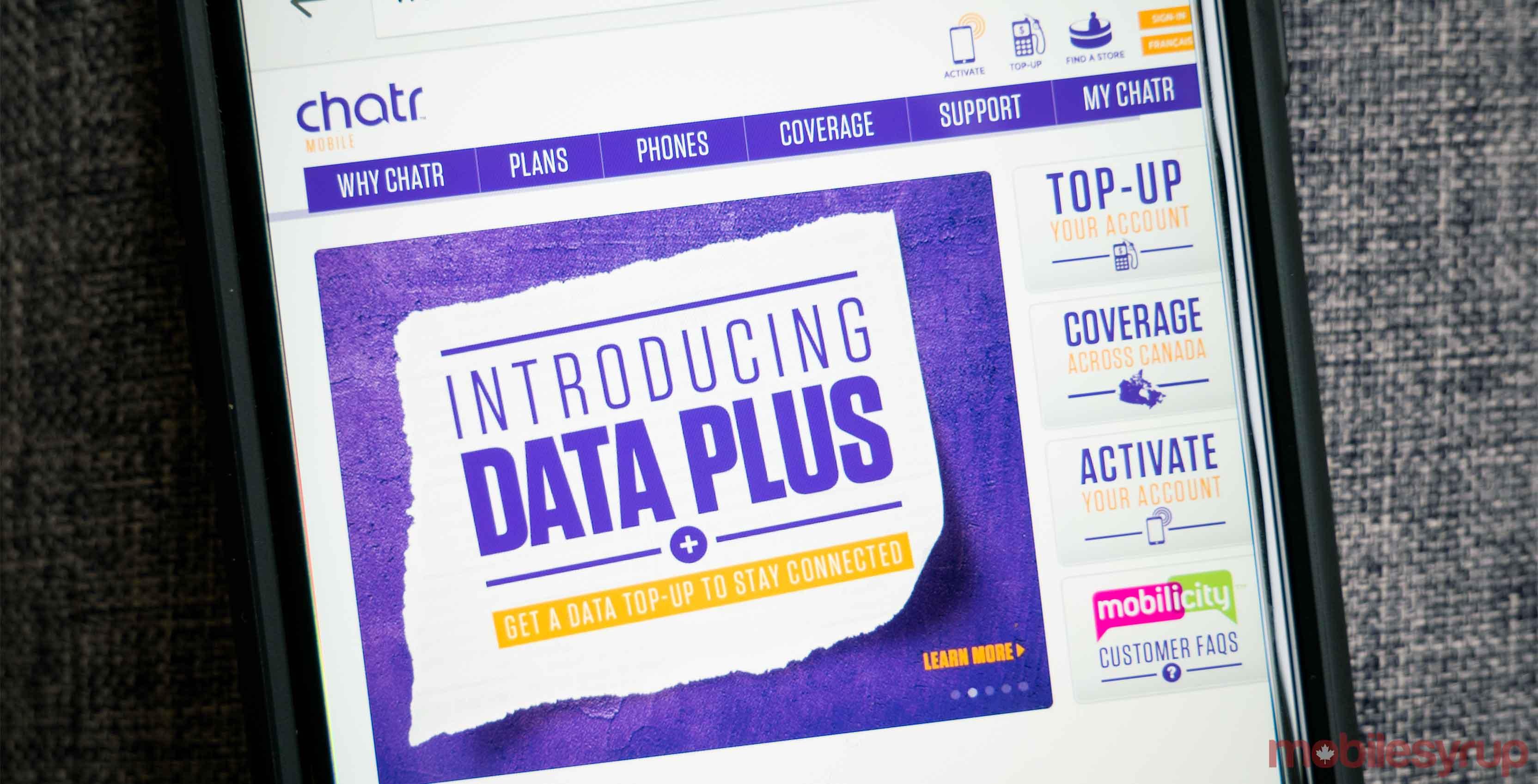 Chatr website chatr bonus data