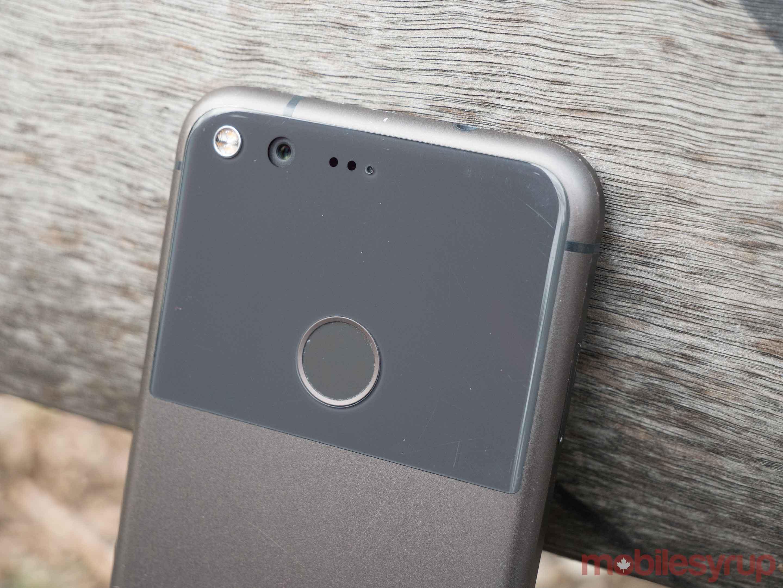 The Google Pixel's Gorilla Glass 3 backing.