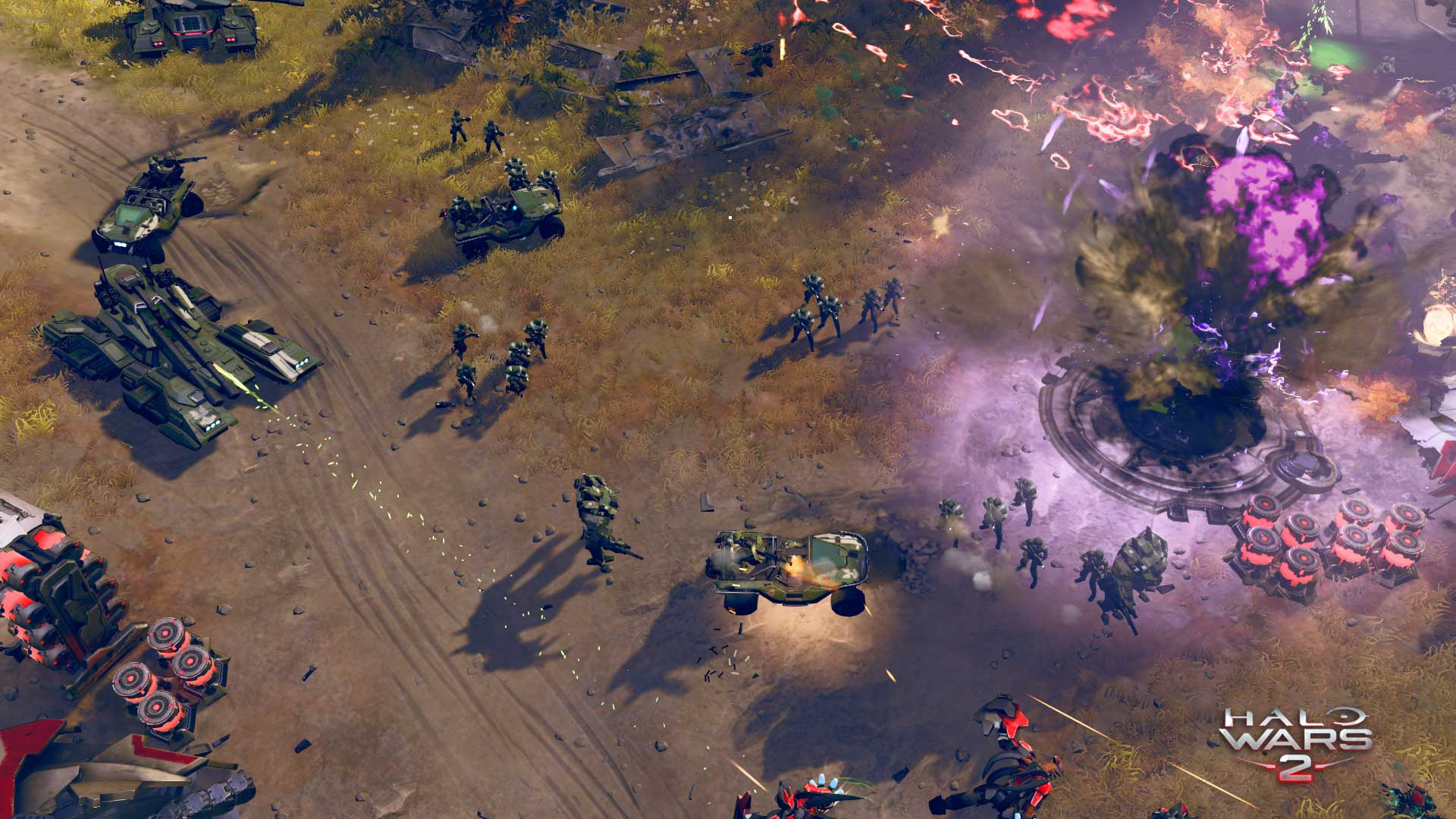 Large scale battle in Halo Wars 2