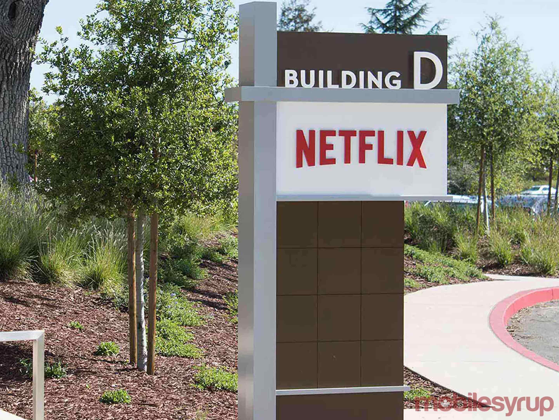 Netflix sign at Netflix's office