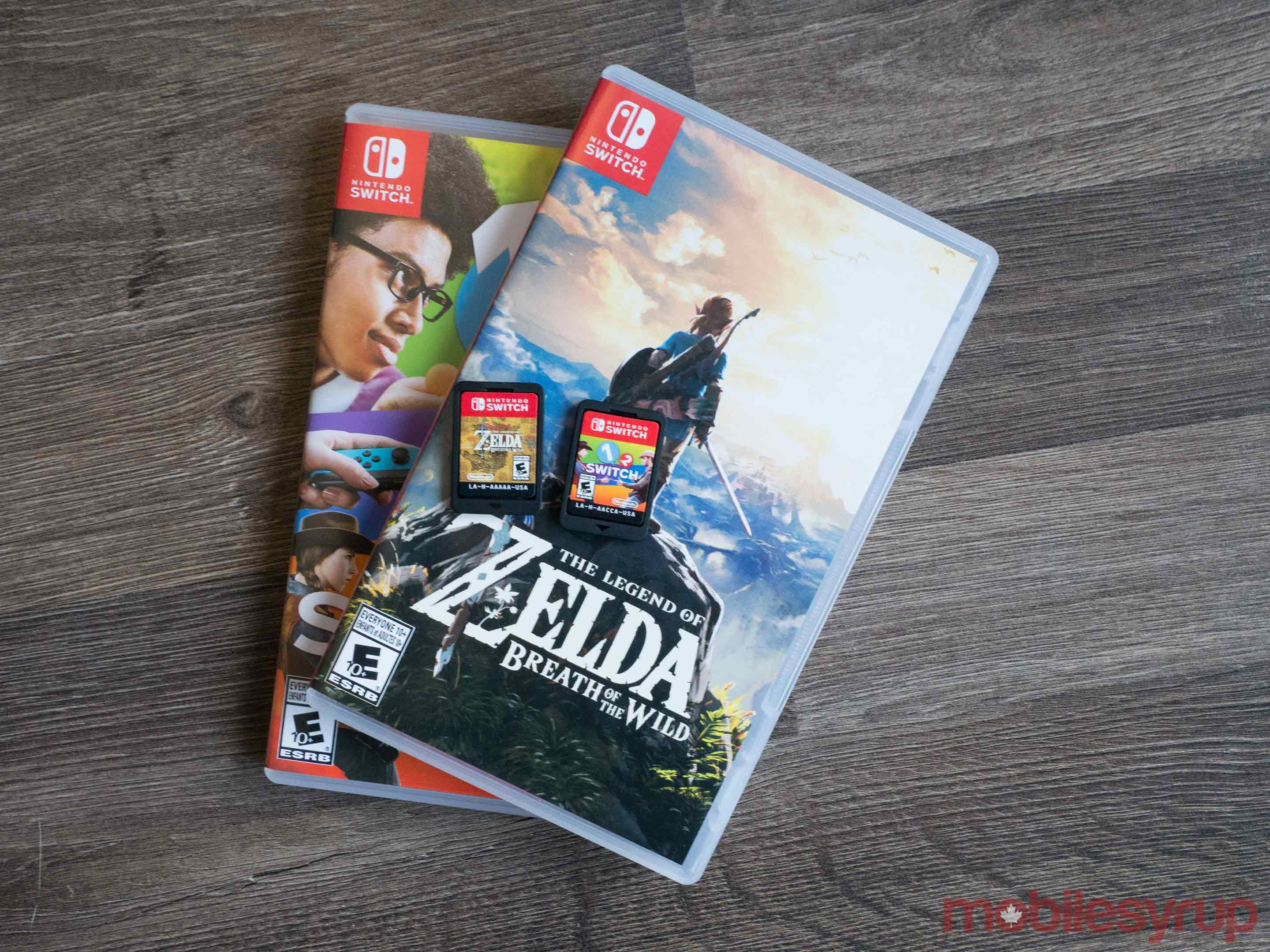 The Legend of Zelda Breath of the Wild and 1-2 Switch