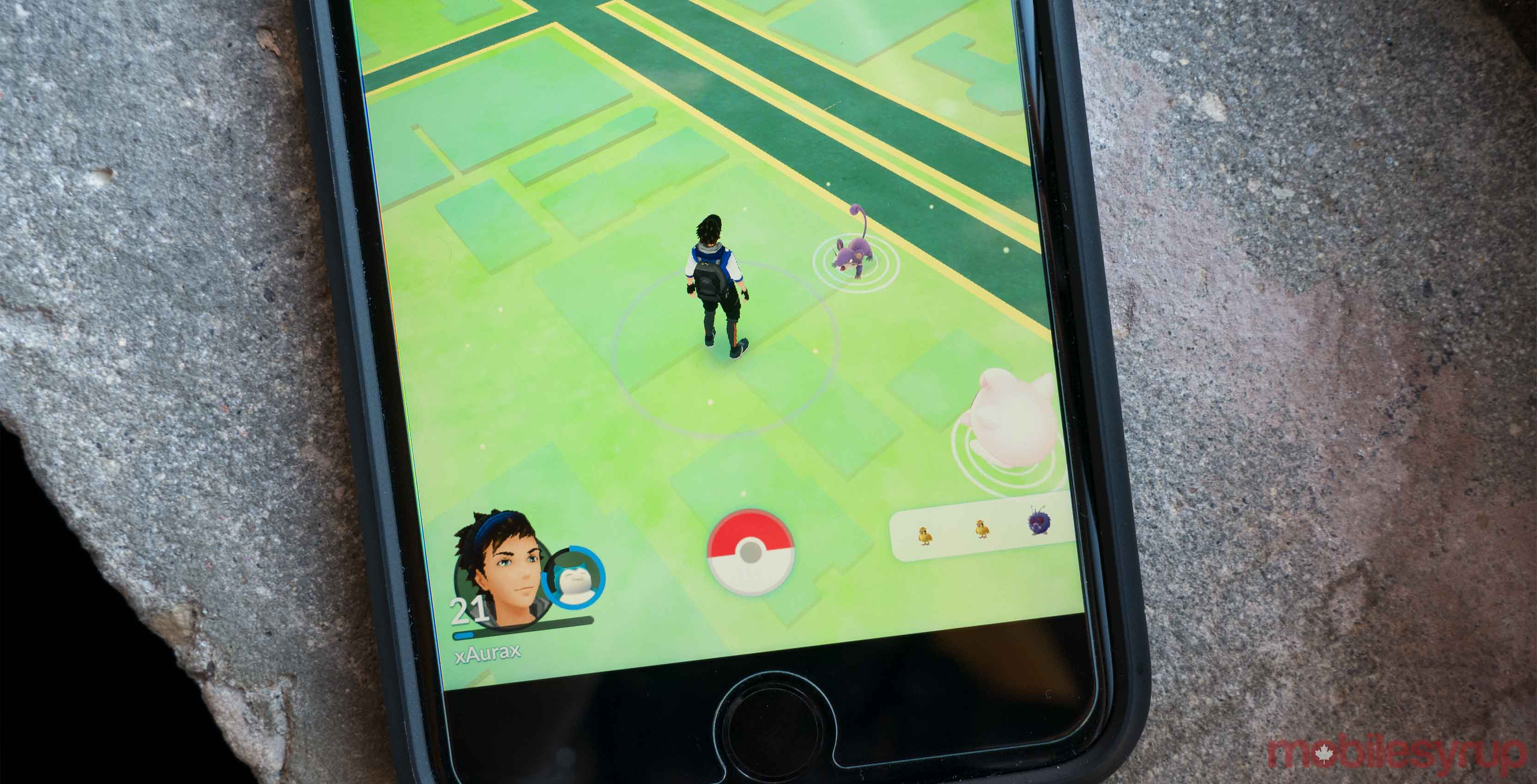 Photo of Pokemon Go on an iPhone