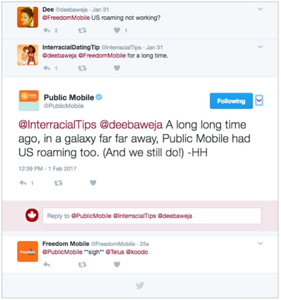 Public Mobile and Freedom Mobile Twitter Battle