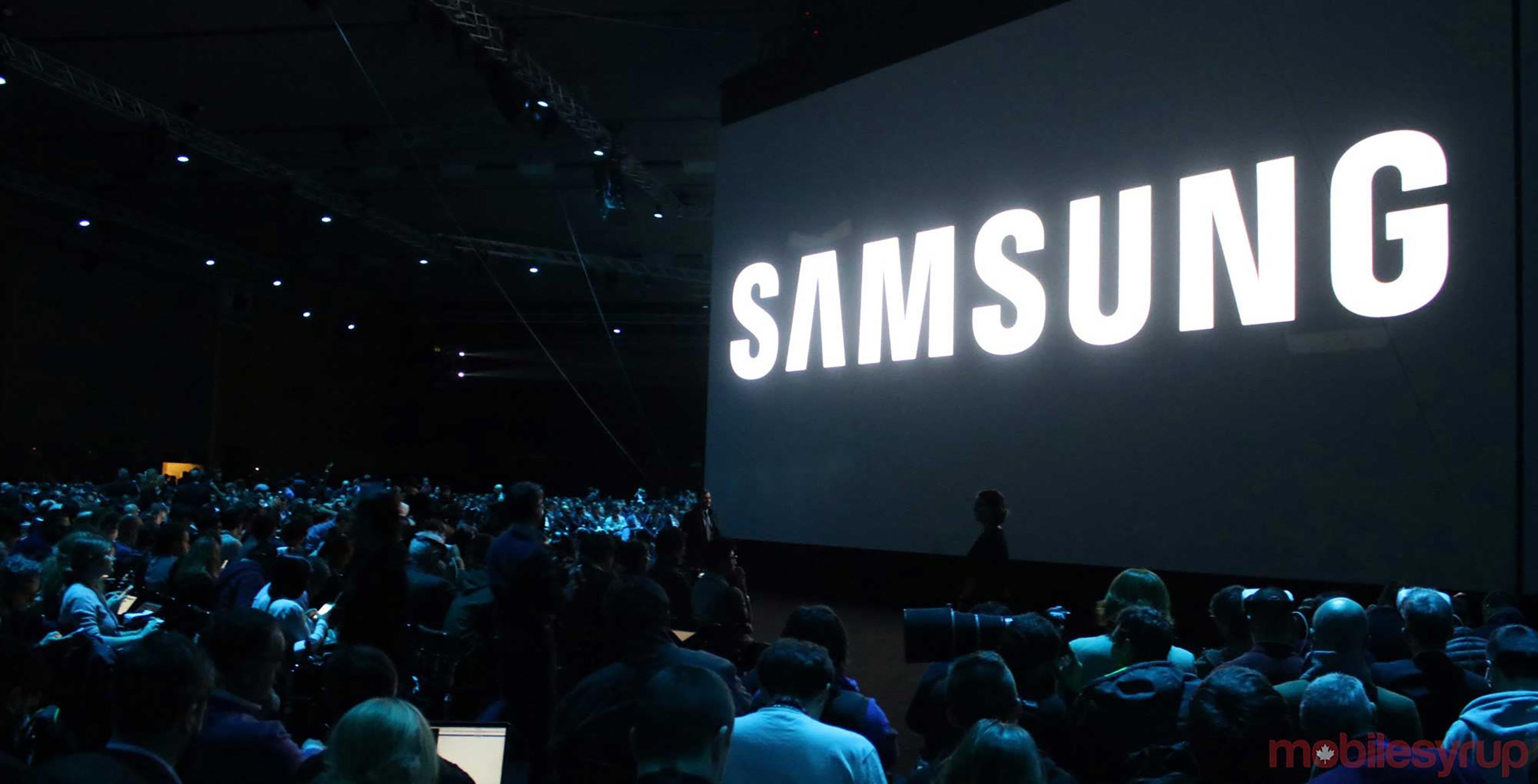 Samsung's logo at Mobile World Congress