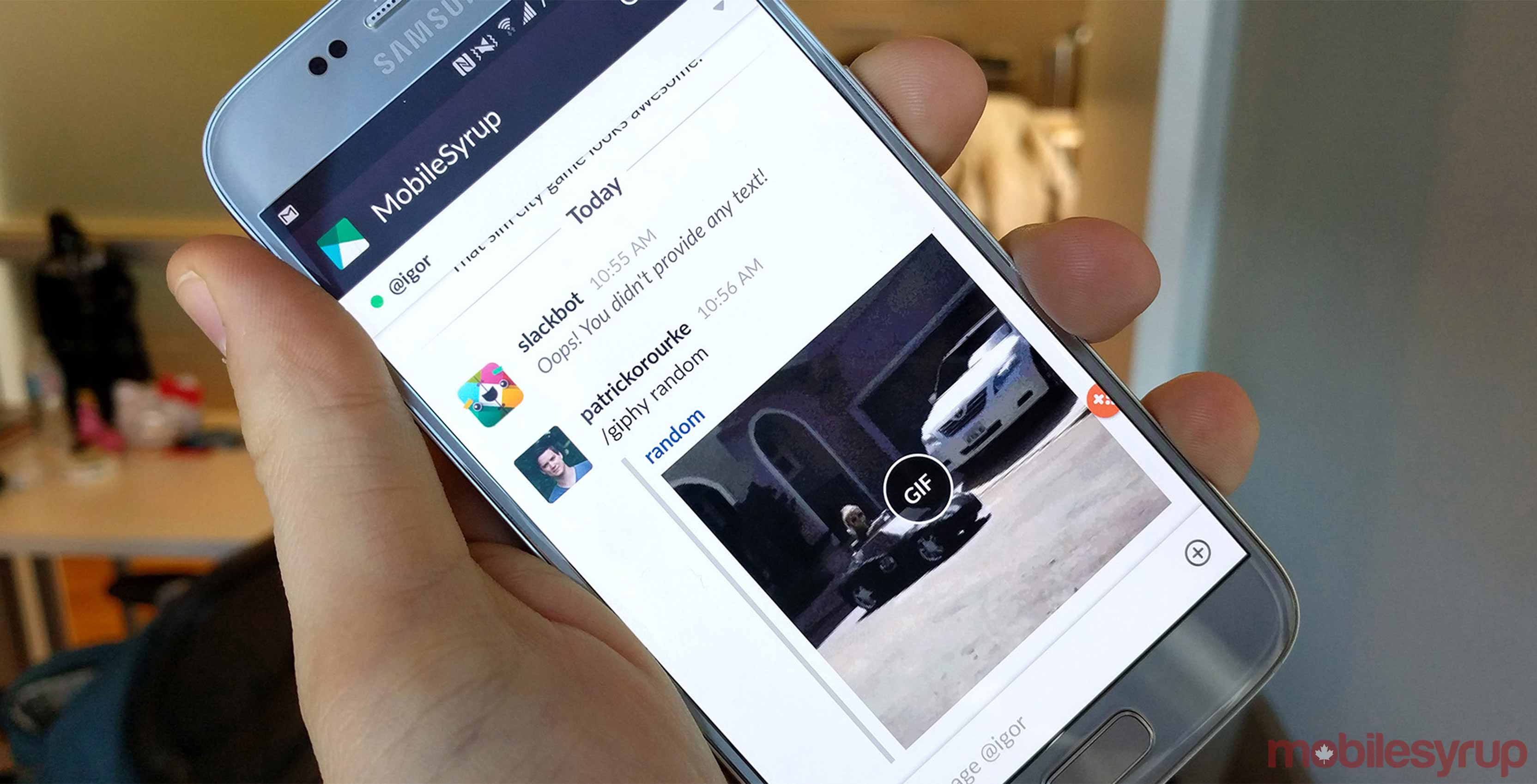 Slack app on iOS